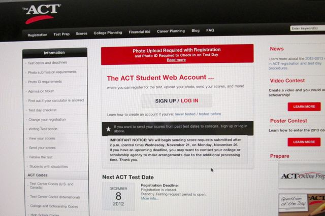 Picture Upload Now Required for ACT Testing – The Paw Print