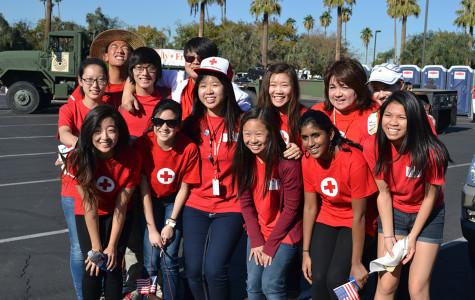 Hamilton's Red Cross Club attends Veterans Day Parade in downtown Phoenix.