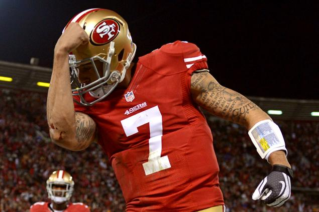 Colin Kaepernick of the San Fransisco 49ers is one of the young quarterbacks that will be featured in Sunday's games.