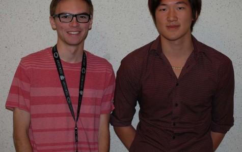 Luke Sadler (12, left) and Dustin Guo (12, right)