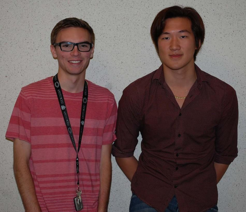 Luke Sadler (12, left) and Dustin Guo (12, right)