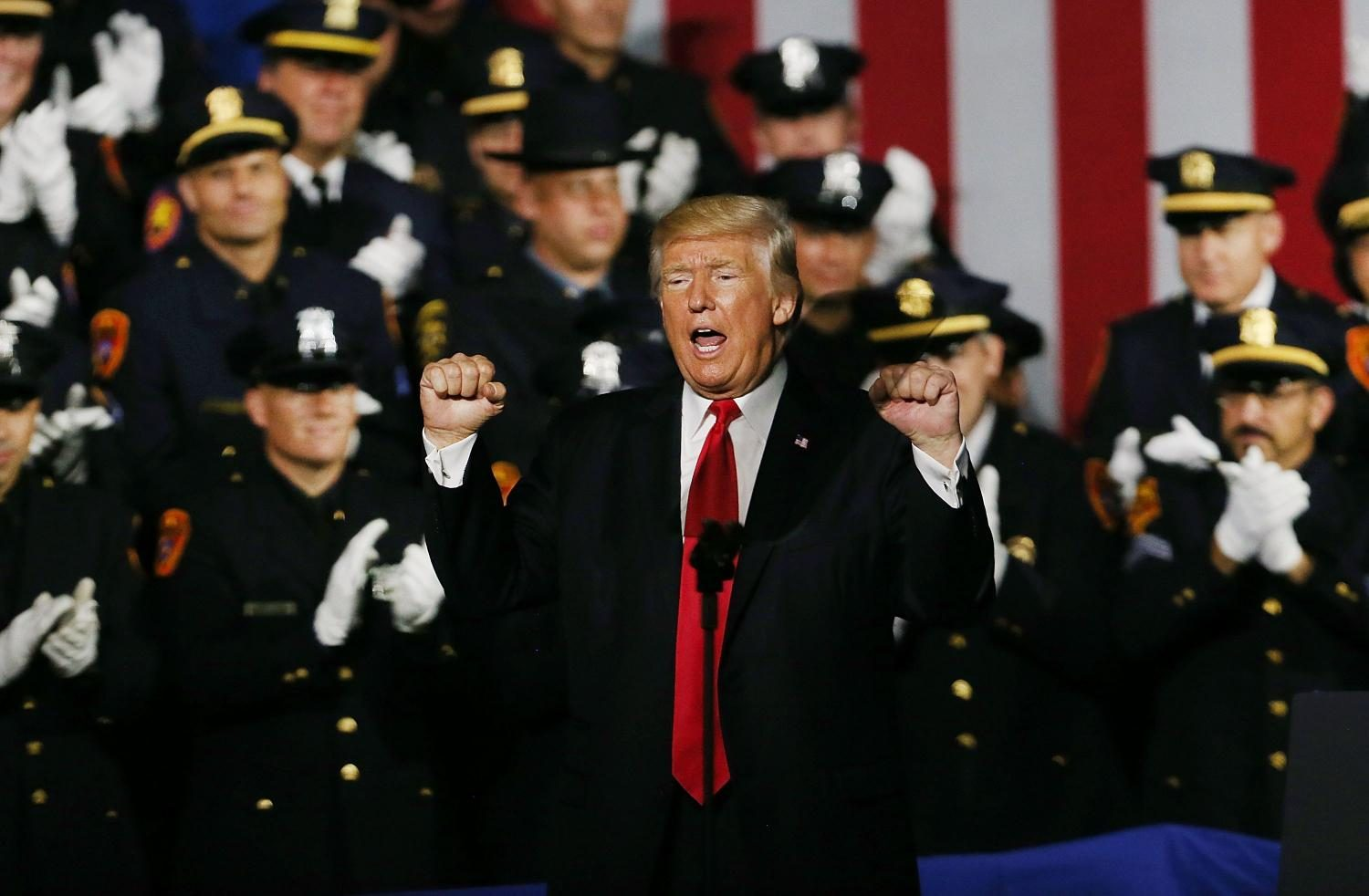 Donald Trump Encourages Police Brutality