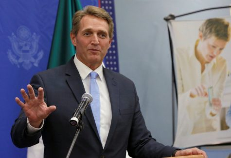 U.S. Republican Senator Jeff Flake speaks to the media during a news conference at the Benjamin Franklin Library in Mexico City, Mexico November 22, 2016. REUTERS/Henry Romero