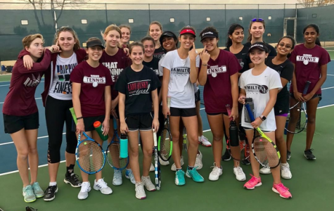 Hamilton High School Girls Tennis Spring Season