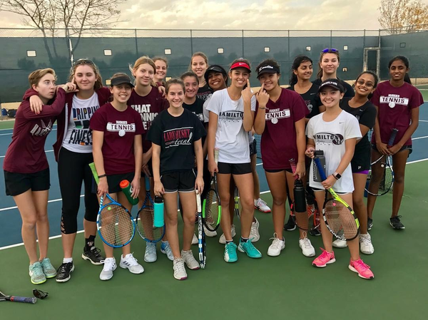 Hamilton High School Girls Tennis Spring Season