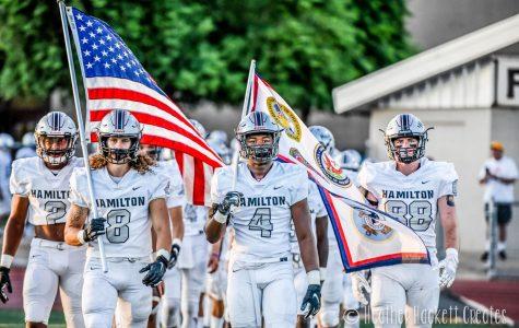 Hamilton Football Varsity Team gets its First Win of the Season